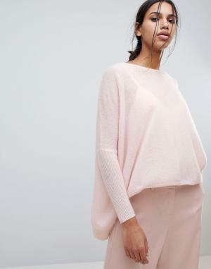 Subtle Luxury Свободный кашемировый джемпер. Цвет: розовый
