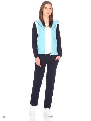 Спортивный костюм FORLIFE. Цвет: темно-синий, белый, бирюзовый