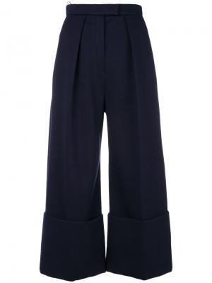 Укороченные расклешенные брюки Delpozo. Цвет: синий