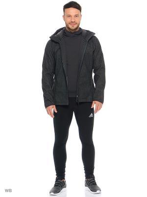 Куртка Adidas. Цвет: темно-серый
