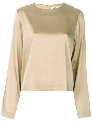 Рубашка с длинными рукавами Toteme. Цвет: металлический