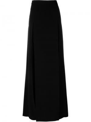 Длинная юбка с разрезом Chalayan. Цвет: чёрный