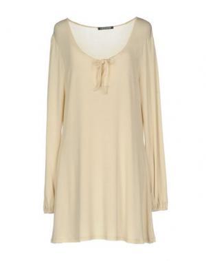 Короткое платье EMISPHERE. Цвет: бежевый