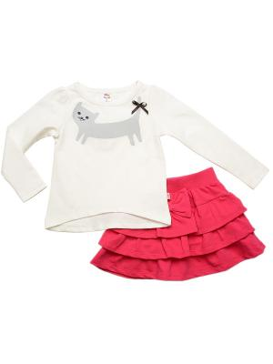 Комплект одежды Mini Maxi. Цвет: малиновый