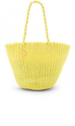 Пляжная сумка Salinas. Цвет: желтый