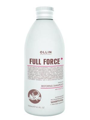 Интенсивный восстанавливающий шампунь с маслом кокоса 300 мл Ollin Professional. Цвет: прозрачный