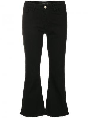 Укороченные расклешенные брюки с необработанными краями Federica Tosi. Цвет: чёрный