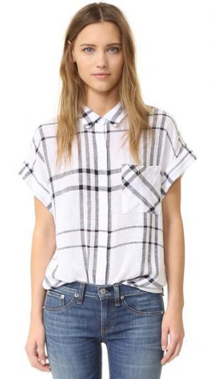Рубашка на пуговицах Whitney RAILS. Цвет: ванильный/темно-синяя клетка