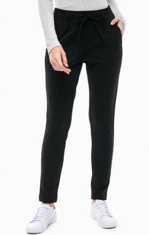 Черные зауженные брюки с карманами TOM TAILOR. Цвет: черный
