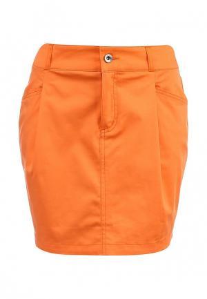 Юбка Baon. Цвет: оранжевый
