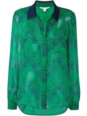 Рубашка Lorelei Two Diane Von Furstenberg. Цвет: зелёный