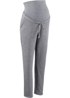 Мода для беременных: трикотажные брюки (серый меланж) bonprix. Цвет: серый меланж