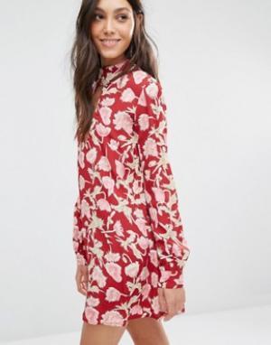 Flynn Skye Платье мини Leah. Цвет: мульти