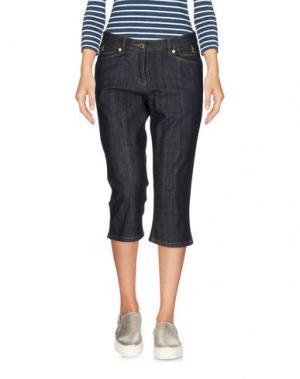 Джинсовые брюки-капри CONTE OF FLORENCE. Цвет: синий
