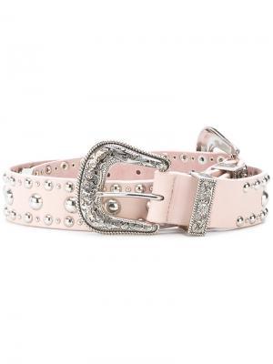 Ремень с заклепками в ковбойском стиле B-Low The Belt. Цвет: розовый и фиолетовый