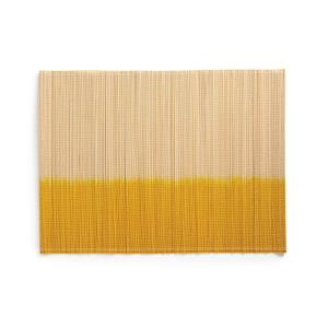 Подложка под приборы из бамбука DAYEM (4 шт.) La Redoute Interieurs. Цвет: желтый,синий,черный