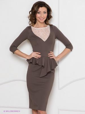 Платье Olga Skazkina. Цвет: коричневый