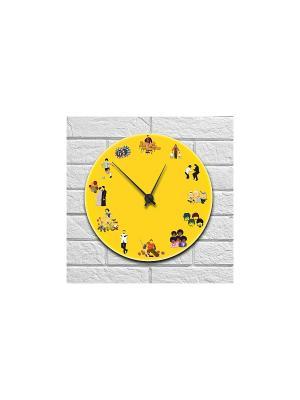 Часы настенные Киномания Kawaii Factory. Цвет: желтый