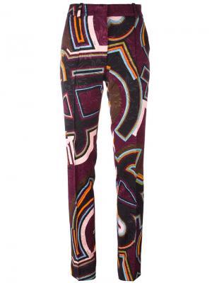Прямые брюки с узором Emilio Pucci. Цвет: многоцветный