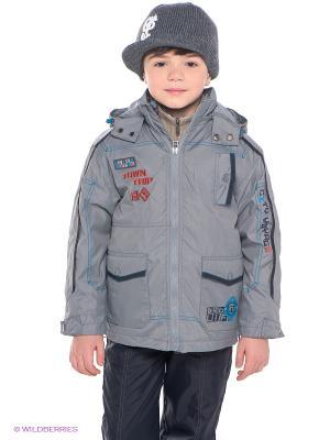 Куртка Hippo Hoppo. Цвет: серый, бирюзовый, терракотовый