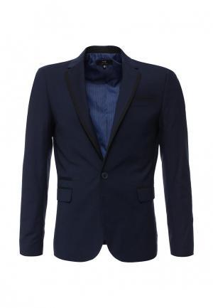 Пиджак oodji. Цвет: синий
