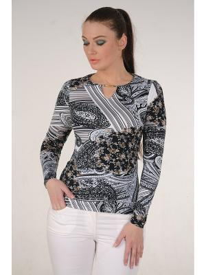 Блузка MONO collection. Цвет: черный, белый, серый