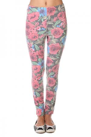 Леггинсы женские  Floral Bouquet Leggings Red Insight. Цвет: мультиколор