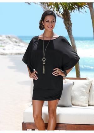 Пляжное платье. Цвет: белый, черный, ярко-розовый