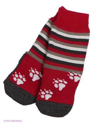 Носки удлиненные Guahoo. Цвет: красный, розовый, белый