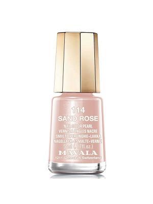 Лак для ногтей тон 114 Sand Rose Mavala. Цвет: кремовый
