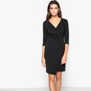 Платье облегающее с драпировкой La Redoute Collections. Цвет: красный,фиолетовый,черный