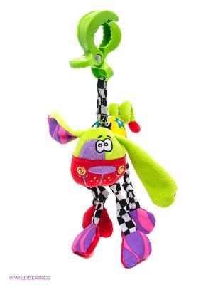 Игрушка-подвеска Собака Playgro. Цвет: салатовый, фиолетовый, красный