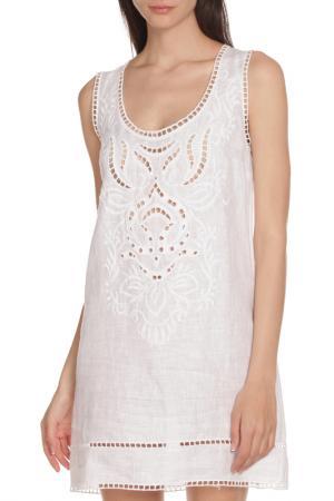 Легкое платье с перфорацией Ermanno Scervino. Цвет: белый
