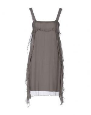 Короткое платье EMISPHERE. Цвет: серый