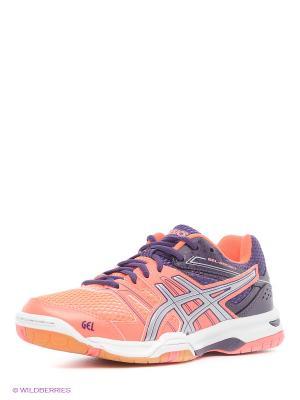 Волейбольные кроссовки GEL-ROCKET 7 ASICS. Цвет: коралловый, серебристый