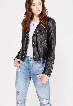 Куртка кожаная Free People. Цвет: черный