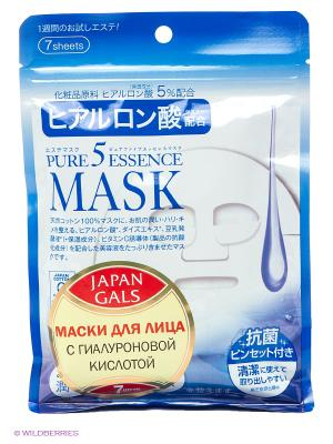 Маска с гиалуроновой кислотой Pure5 Essential Japan Gals. Цвет: белый, синий