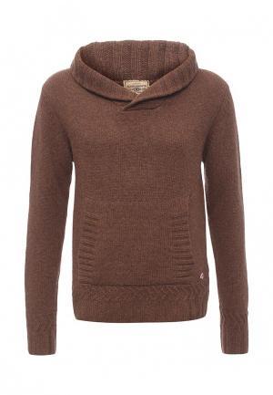 Пуловер ZU Elements. Цвет: коричневый