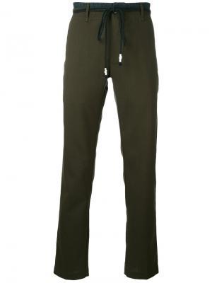 String tie straight trousers Pence. Цвет: зелёный