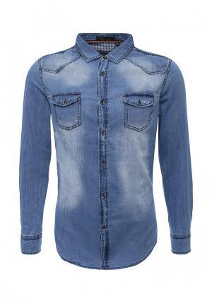 Рубашка джинсовая Chromosome. Цвет: синий