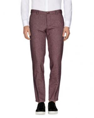 Повседневные брюки ROBERTO PEPE. Цвет: кирпично-красный
