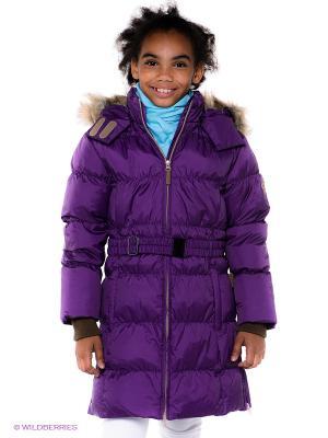 Пальто HUPPA. Цвет: фиолетовый
