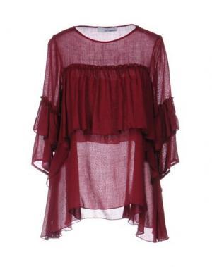 Блузка CHILI PEPPERS. Цвет: красно-коричневый