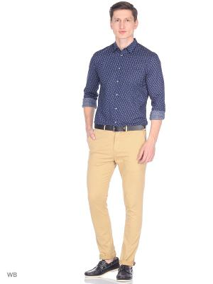 Рубашка Sisley. Цвет: синий, лазурный