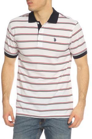 Футболка-поло U.S. Polo Assn.. Цвет: кремовый