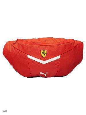 Сумка поясная Ferrari Fanwear Waist Bag Puma. Цвет: красный