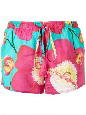 Floral print shorts Isolda. Цвет: синий