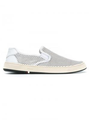 Leather sneakers Osklen. Цвет: белый