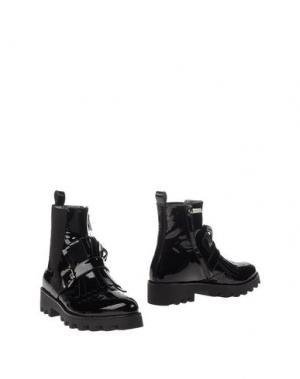 Полусапоги и высокие ботинки LORETTA PETTINARI. Цвет: черный