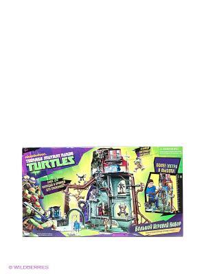 Игровой набор Черепашки Ниндзя Playmates toys. Цвет: зеленый